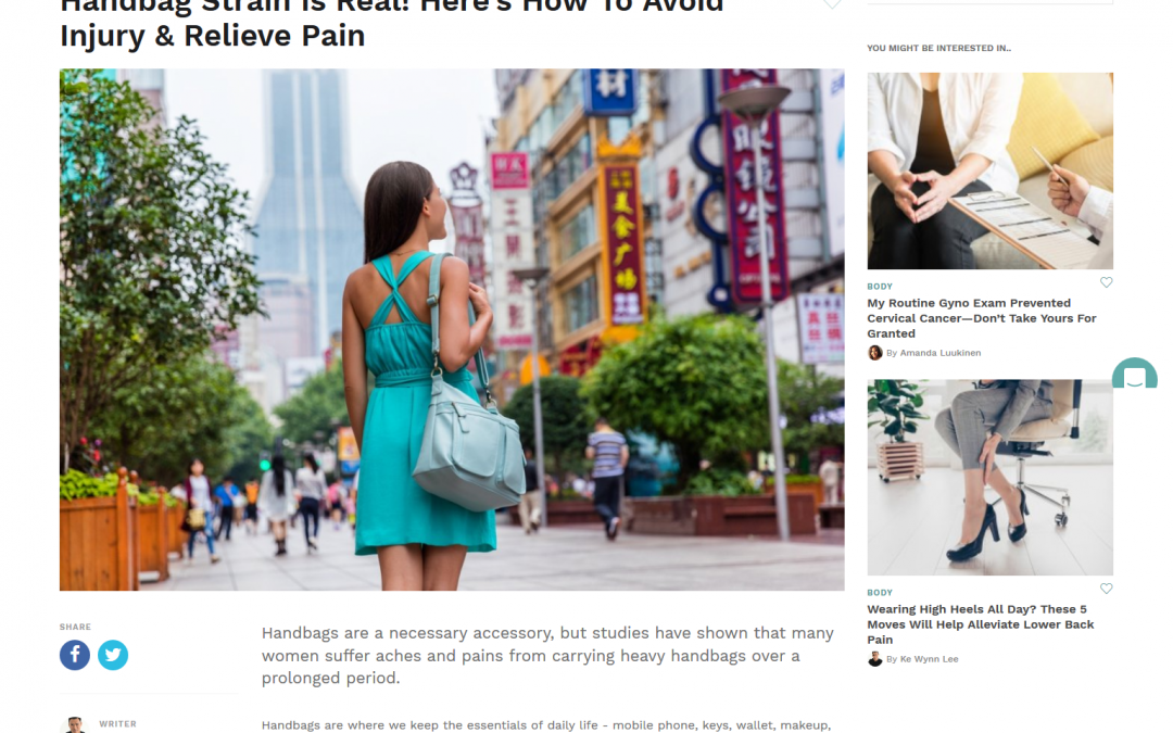 Handbag Strain Is Real! Here's How To Avoid Injury & Relieve Pain