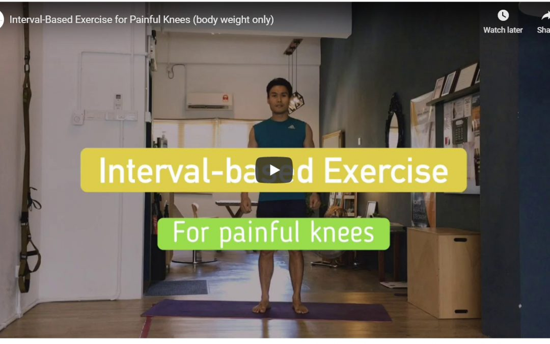 Interval-based exercise for people with knee pain (body weight)